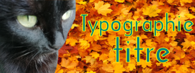 Typographie titre